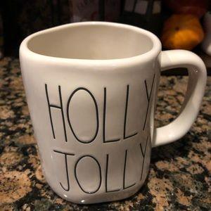 Rae Dunn Holly Jolly double sided mug